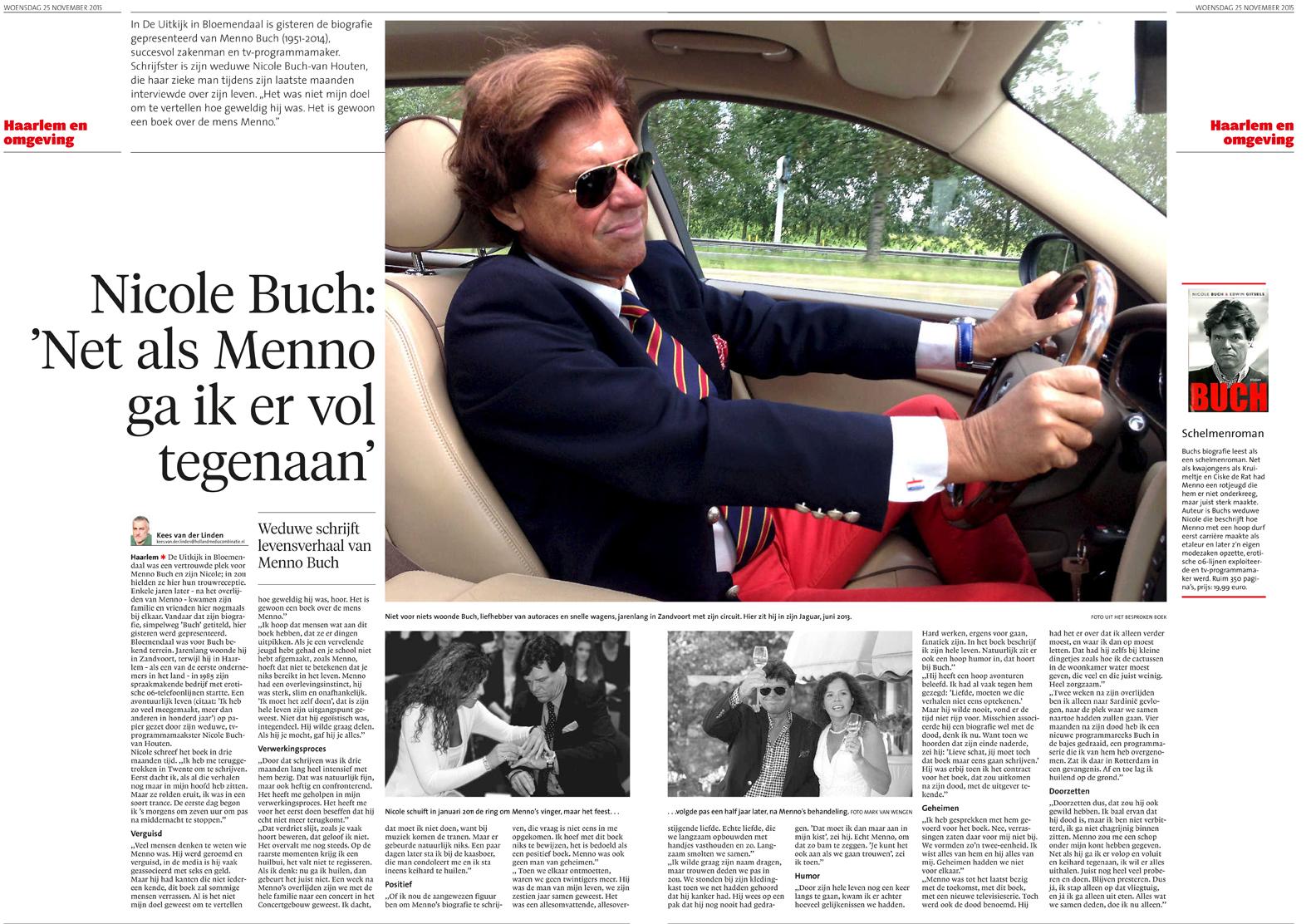 Haarlems Dagblad 25 november 2015